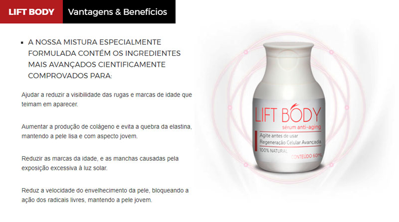 Benefícios Lift Body