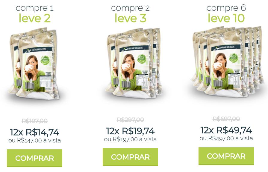 preço do chá