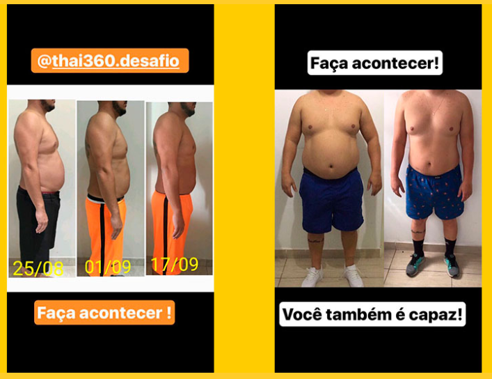 antes e depois de quem participou do programa