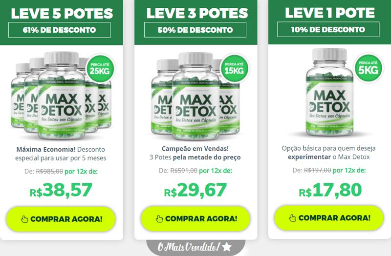 Preço Max Detox