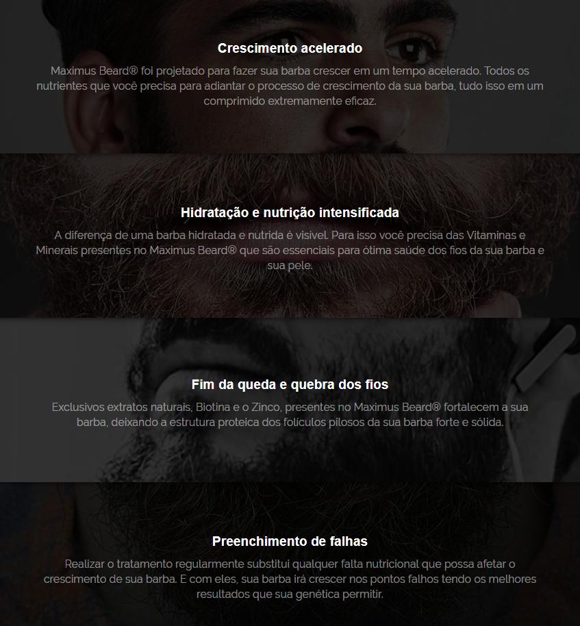 Beneficios Maximus Mens Beard