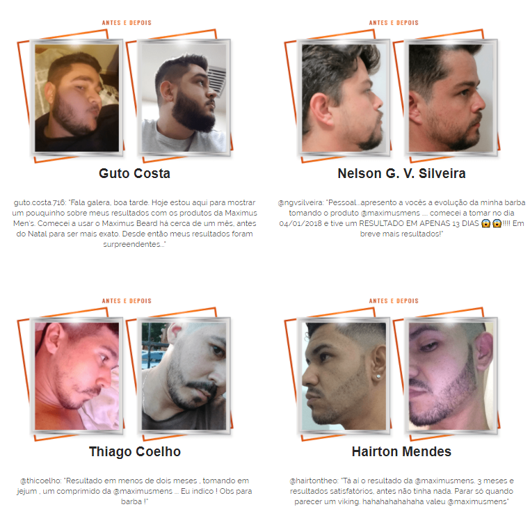 Depoimentos Maximus Mens beard