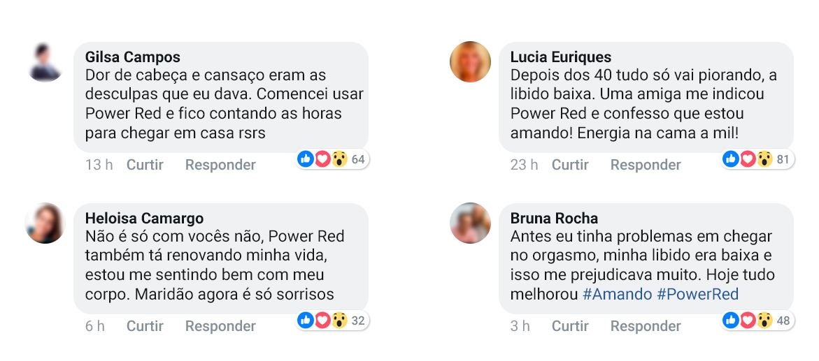 Power Red depoimentos